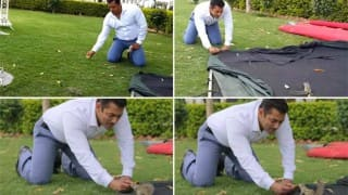 Salman Khan plays cricket, feeds squirrel on Prem Ratan Dhan Payo sets (Watch Video)