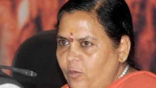 उमा भारती ने नमामि गंगे पर प्रणव पड्या से चर्चा की