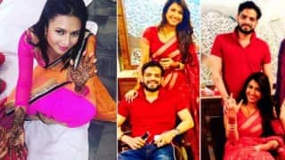 Karwa Chauth 2015: Karan Patel, Ankita Bhargava, Divyanka Tripathi & other TV celebs' romantic moments