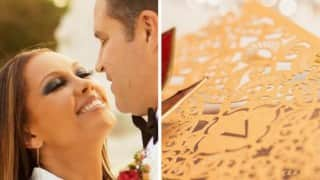 Beautiful! How Vanessa Williams' gold-plated wedding card was created (Pictures and videos)