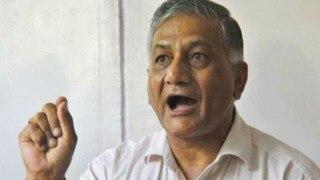 Congress SC cell demands VK Singh's resignation over dog remark