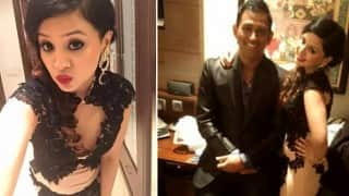 MS Dhoni's wife Sakshi shows off sexy avatar in Harbhajan Singh wedding reception! See Pictures