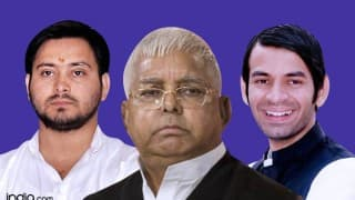 Lalu Prasad Yadav's sons trailing from Mahua and Raghopur in Bihar Assembly Elections 2015; BJP+ leads on 104 , JD+ on 67 and Others on 4