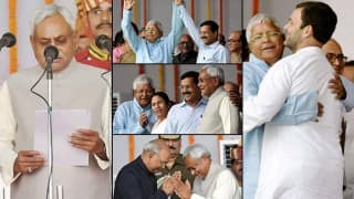 Nitish Kumar takes oath as Chief Minister for fifth time of Bihar, inducts 25 other ministers in his new cabinet (View Pics)