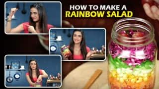 Rainbow salad diet: Add some colour to your plate with this nutritious salad