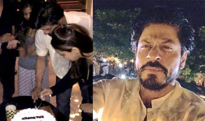 Khan turns 50: King Khan takes selfie with fans and cuts birthday cake ...