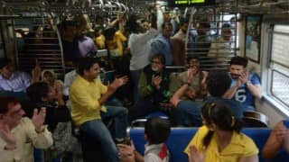 Amitabh Bachchan travels in local train for charity