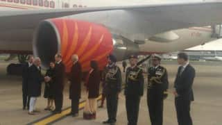 Narendra Modi arrives in Britain