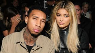 Kylie Jenner, Tyga arrive together at the American Music Awards