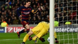 Lionel Messi scored his first goal after injury layoff