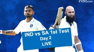 India vs South Africa 1st Test Day 2 Live Score, Videos and Tweets