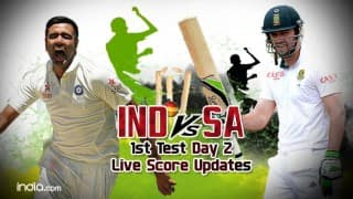 IND 125/2 | STUMPS | India vs South Africa 1st Test 2015 Day 2 Live Cricket Score Updates: IND vs SA in 40 overs
