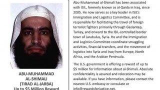 US offers 5 million dollars reward for IS terrorist Abu Muhammad al-Shimali, also known as Tirad al-Jarba