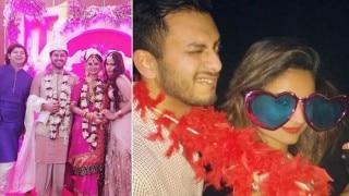 Bigg Boss season 8 contestant Dimpy Ganguly married her Dubai-based businessman fiance Rohit Roy (View Pics)