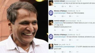 Suresh Prabhu to the rescue! Aggrieved woman passenger gets immediate help after tweeting directly to railway minister