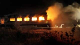 Fire in empty coach at New Azadpur station; no injury