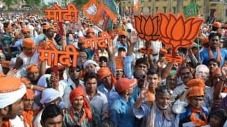 Bihar Election Results 2015: BJP workers celebrate as trends show party leading
