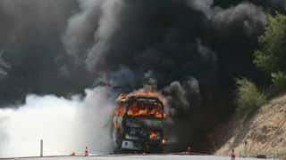 Violence erupts in Nepal once again, Indian tourist bus set ablaze