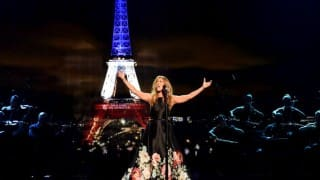 Celine Dion pays heartfelt tribute to Paris attack victims with Hymne à L'Amour at AMAs 2015