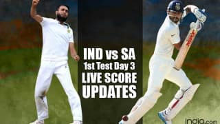 IND bt SA by 108 runs | India vs South Africa 1st Test 2015 Day 3 Live Cricket Score Updates: SA 109 All-out (Target 218)