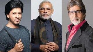 अमिताभ बच्चन और शाहरुख़ खान ने पीएम नरेंद्र मोदी को पछाड़ा