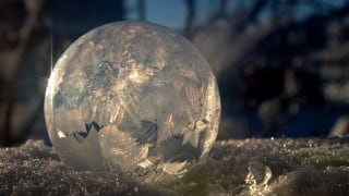 Beautiful! Frozen bubbles in Calgary (Watch video)