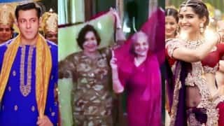 सलमान खान की माँ हेलेन और वहीदा रहमान ने प्रेम रतन धन पायो टाइटल ट्रैक पर लगाये ठुमके
