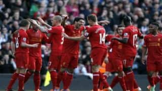 Christian Benteke fires Liverpool into Europa League knockout stage