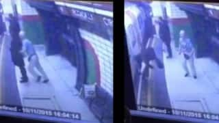 Shocking footage! Man pushes Muslim woman onto train in London! (Watch video)