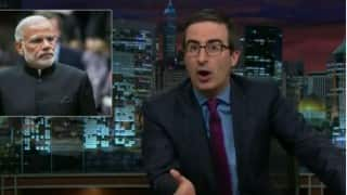 John Oliver takes a dig at Narendra Modi's joke during his visit to UK (Video)