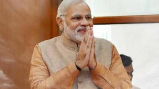 Narendra Modi meets Malaysian Indian Congress members