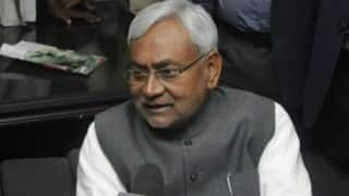 Stage set for oath ceremony of Nitish Kumar