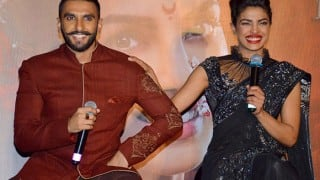 Ranveer Singh and Priyanka Chopra song Malhari launched amidst great fanfare