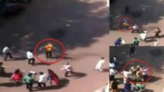 Shocking video! Pune editor sets himself on fire at collector's office