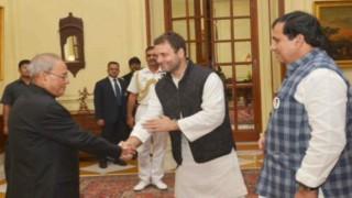 Rahul Gandhi meets Pranab Mukherjee, seeks judicial probe in Faridkot firing