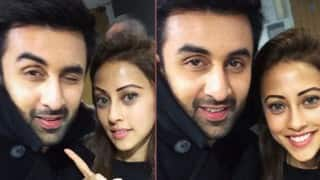 Ranbir Kapoor gets clicked with Pakistani actress Ainy Jaffri