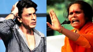 Sadhvi Prachi calls Shahrukh Khan 'Pakistani agent' for making 'intolerance' remark; tells him to go to Pakistan