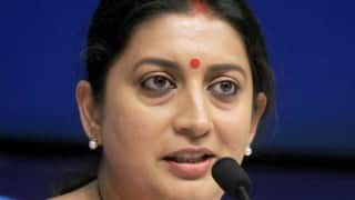 HRD minister Smriti Irani conveys Indian solidarity with France