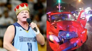 WWE announcer Jerry Lawler & girlfriend involved in car accident, post pictures on Twitter & Facebook