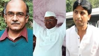 Jan Lokpal row: AAP leaders approach Anna Hazare for support; Prashant Bhushan follows them to Ralegaon Siddhi