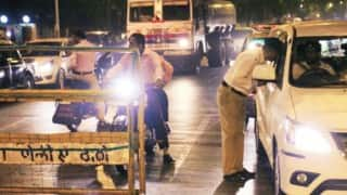 Mumbai police issues messages against drunken driving for party revelers on New Year's Eve