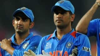 Gautam Gambhir tweets about reports that he ignored MS Dhoni handshake