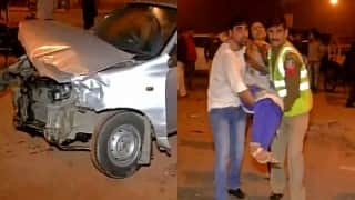 Massive road accident on Delhi's Rajpath: 5 injured including one police official, 5 cars damaged