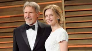 Harrison Ford learning to text: Calista Flockhart