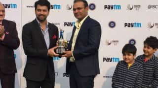 BCCI felicitates Virender Sehwag before start of India vs South Africa 4th Test