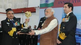Narendra Modi presents four innovation trophies