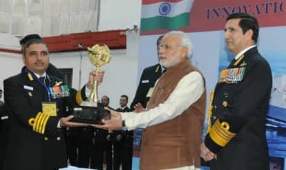 Narendra Modi presents four innovation trophies