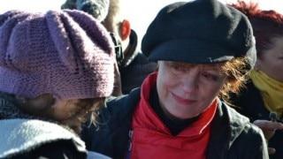 Susan Sarandon spending Christmas with Syrian refugees