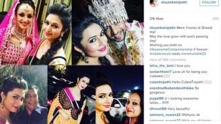Divyanka Tripathi, Karan Patel at bestie Alok Narula and Anshu Malik's wedding! See pictures!