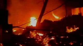 Fire breaks out in Kolkata Dum Dum Park, one killed